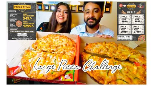 🌶 WE ATE 2 LARGE PIZZAS   SPICY PIZZA CHALLENGE WITH FIANCE 2021🍕🌶🔥