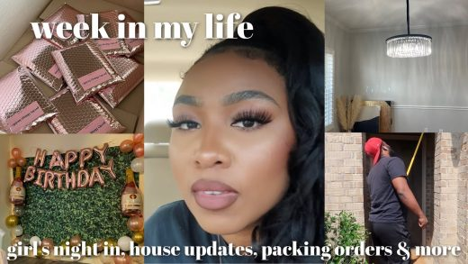 WEEKLY VLOG: Girls Night In, House Updates, Grilling With Hubby & He Burned The Food, Packing Orders