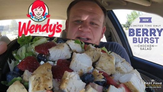 Wendy's ☆BERRY BURST CHICKEN SALAD☆ Food Review!!!