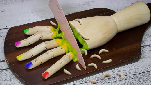 Wooden Colorful Rainbow Hands: Amazing Cake Decorating Ideas - Stop Motion Cooking ASMR