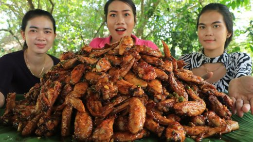 Yummy cooking chicken wings grilled with chili sauce recipe - Amazing cooking