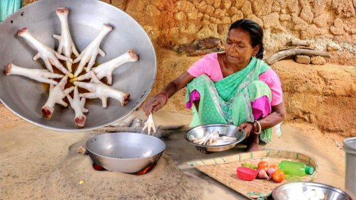 kfc style CHICKEN LEG piece fry cooking by our santali grand mother || rural village life India