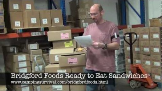 Bridgford Foods Ready to Eat Sandwiches, real food from www.campingsurvival.com