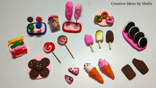 DIY how to make miniature realistic dessert with polymer clay|polymer clay mini food making tutorial