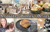 FOODporn.pl FALL DECORATE + DINNER + DESSERT | FALL RECIPES | FALL DECORATE & COOK WITH ME 2021