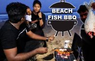 FOODporn.pl Grilled Big Fish in our Budget Barbeque setup | Cooking in ECR Beach