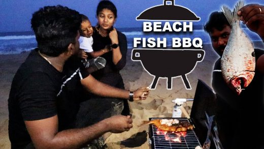 Grilled Big Fish in our Budget Barbeque setup | Cooking in ECR Beach