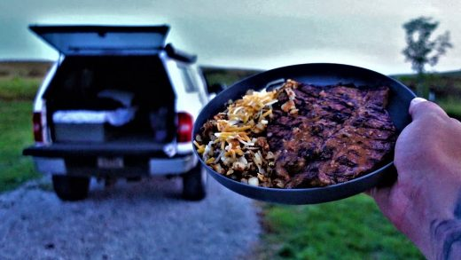 Grilled Meats And A Morning Thunderstorm - Solo Truck Camping