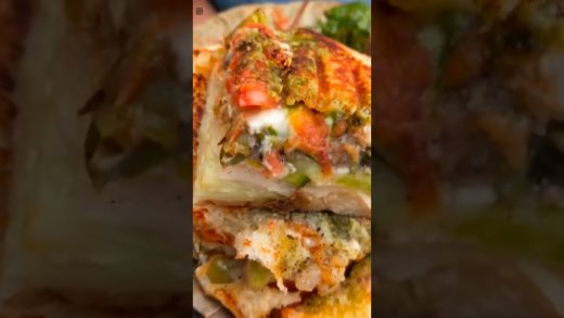 Kolkata's Most Loaded Grilled Sandwich 🤤🥪| Grilled Cheese Sandwich 😋🍱| Indian Street Food #shorts