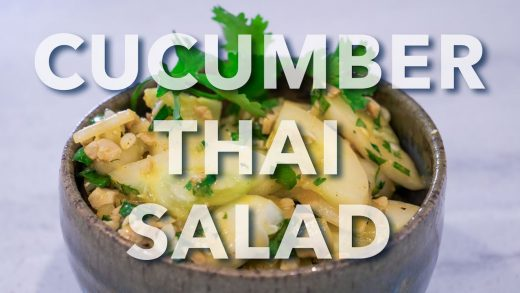 Lemon Cucumber Thai Salad Recipe by Sergei Boutenko|This salad gets better with time! 🥒