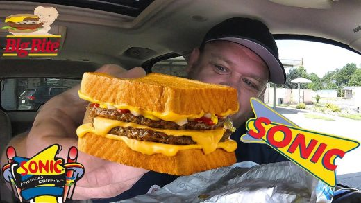 SONIC Drive-In NEW!⭐️GRILLED CHEESE BURGERS⭐️ Food Review!!!