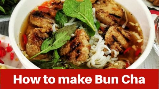 Bun Cha - How to make it at home (Vietnamese grilled meatballs recipe)