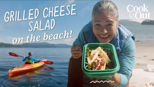 Chef Makes SEARED CHEESE Salad on the Beach! | Cook Out with Chef Maria Hines
