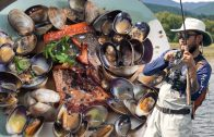 FOODporn.pl FISHING, CLAMMING, &MUSHROOMING at Camp | Cooking it All Together