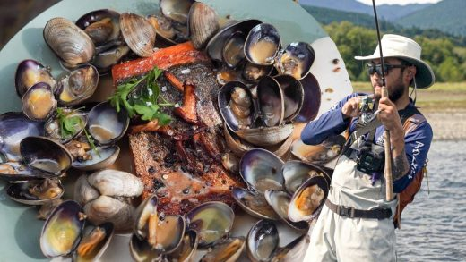 FISHING, CLAMMING, &MUSHROOMING at Camp | Cooking it All Together