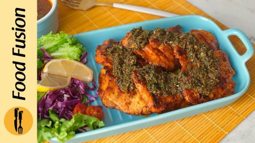 Grilled Chicken with Chimichurri Sauce Recipe By Food Fusion