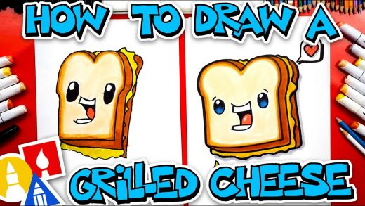 How To Draw A Funny Grilled Cheese Sandwich