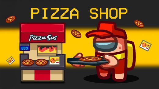 I Opened a PIZZA SHOP in Among Us!