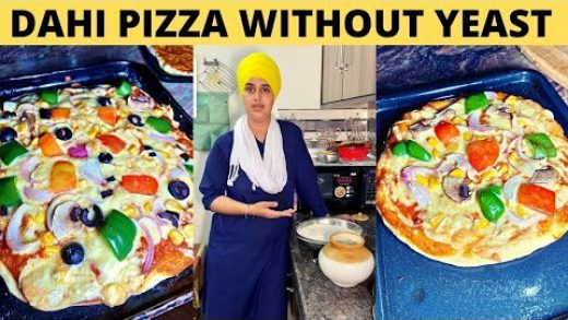 Pizza Recipe Without Yeast || Dahi Pizza || How to make Pizza At Home