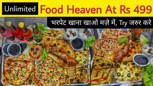 Unlimited Food Heaven At Rs 499 || Twisted Garlic Bread, Heart Shape Pizza, Choco Lava Cake & More